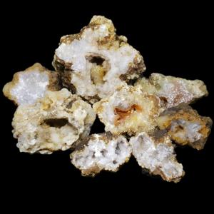 geode quartz calcedoine ouvrir casser orange rouge geodes-et-mineraux.fr