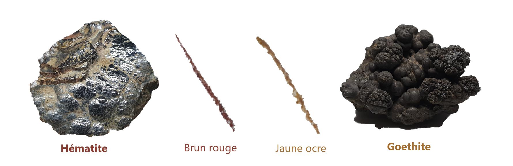 comparaison-trait-trace-hematite-goethite-difference-identification-minéraux