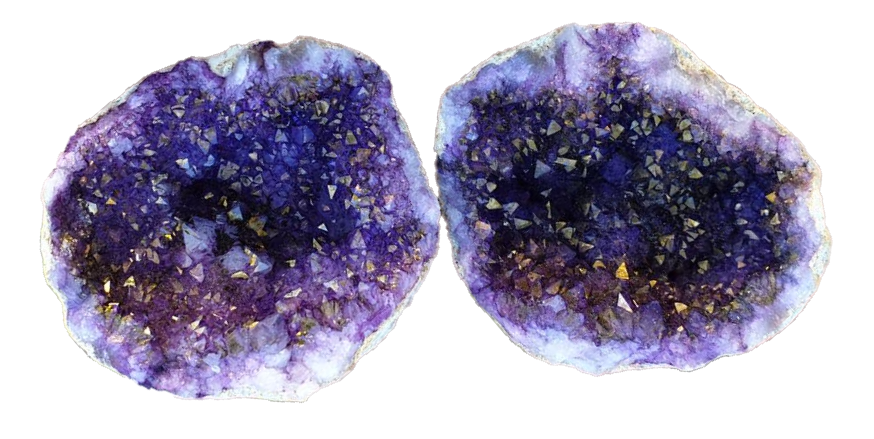 fausse-geode-quartz-teintee-peinture-violet-maroc